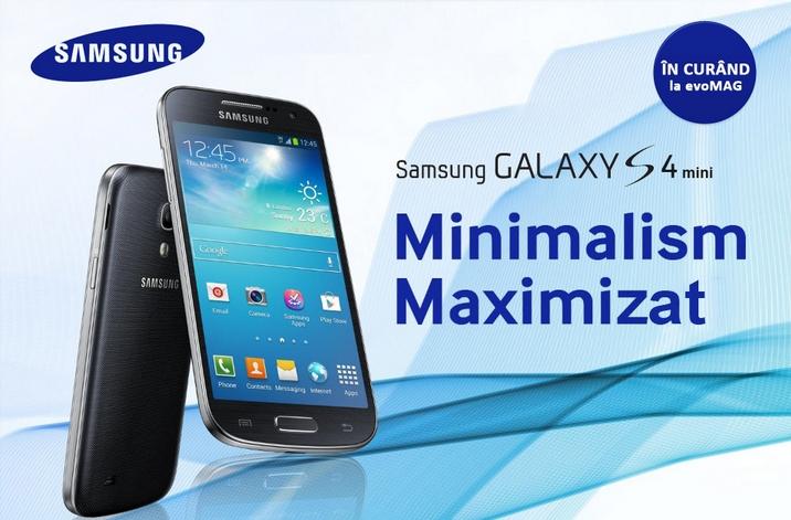 Samsung Galaxy S4 Mini disponibil la precomandă pe evoMag.ro